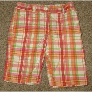 Gymboree Cherry Baby Plaid Shorts Size 6